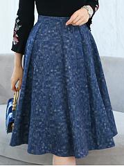 Charming-Pocket-Flared-Midi-Skirt