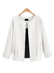 Collarless  Plain Jacket