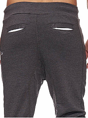 Drawstring Patch Pocket  Plain  Slim-Leg  Mid-Rise Men's Casual Pants