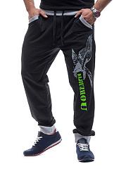 Stylish-Mens-Contrast-Trim-Printed-Jogger-Pants