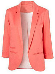 Notch Lapel  Slit Pocket  Plain  Long Sleeve Blazers