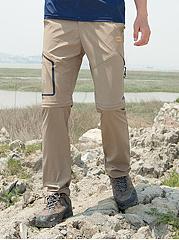 Two-Way-Elastic-Waist-Straight-Mens-Casual-Pants