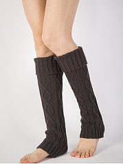 Vintage Knit Thick Warm Long Leg Warmers