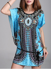 Round-Neck-Tribal-Printed-Short-Sleeve-T-Shirt