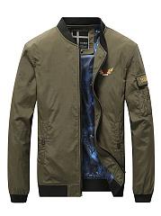 Band-Collar-Men-Embroidery-Pocket-Bomber-Jacket