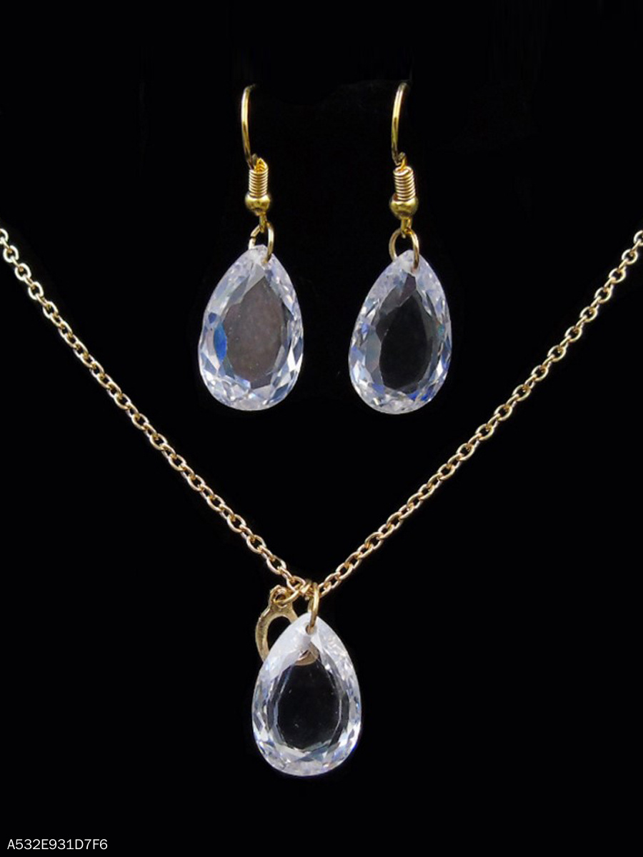Three-Dimensional Drop-Shaped Imitated Imitated Crystal Set