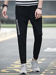 Zips-Pocket-Printed-Slim-Leg-Mens-Casual-Pants