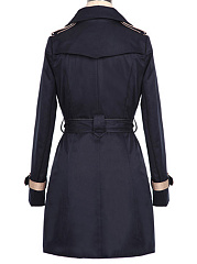 Trench Mélange De Coton Contrast Trim Slit Pocket