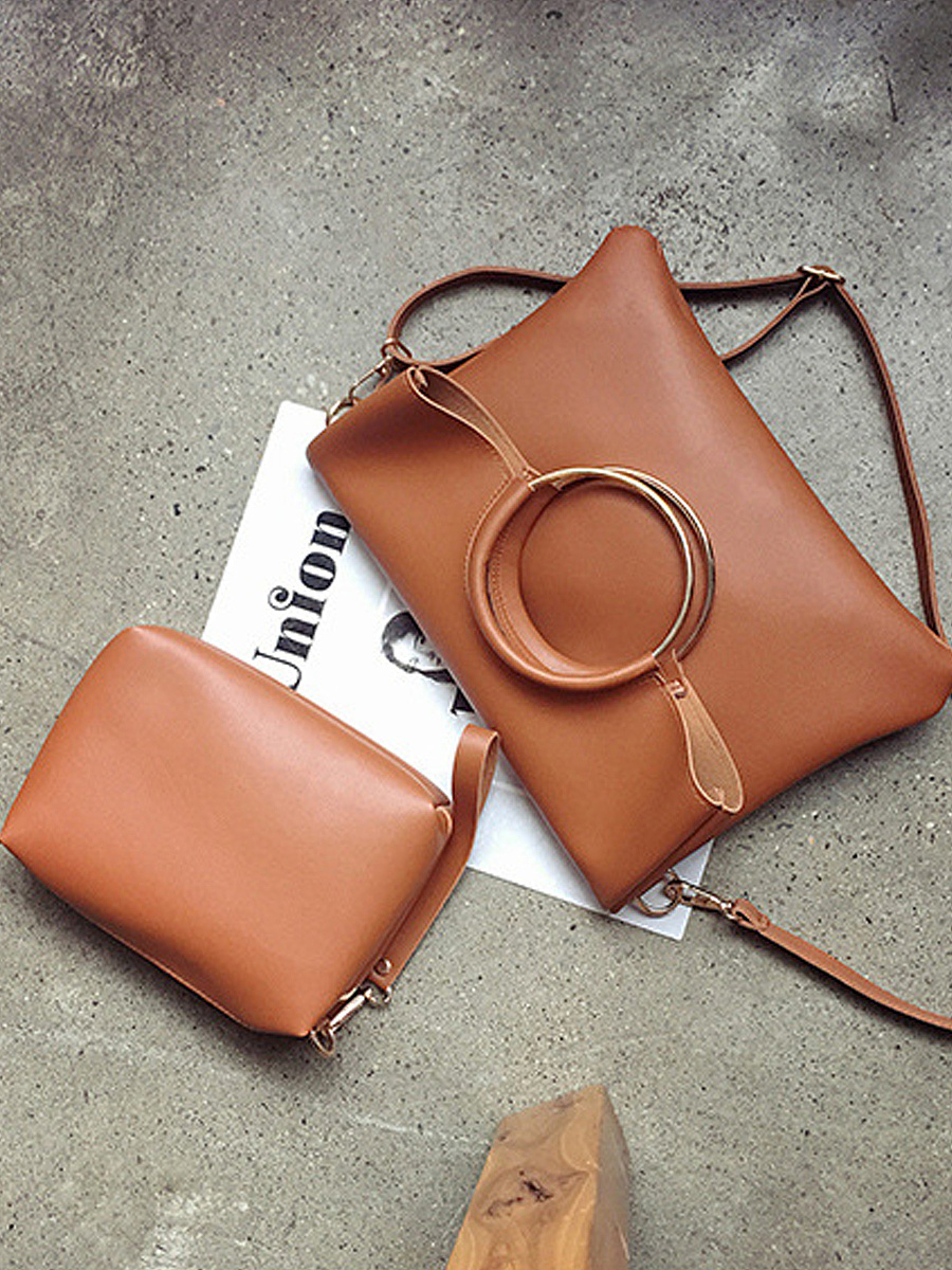 Two Pieces Bag Set Round Handle Crossbody Bag