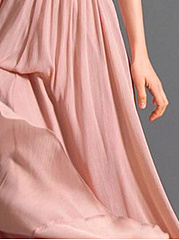 V-Neck Ruched Plain Evening Dress