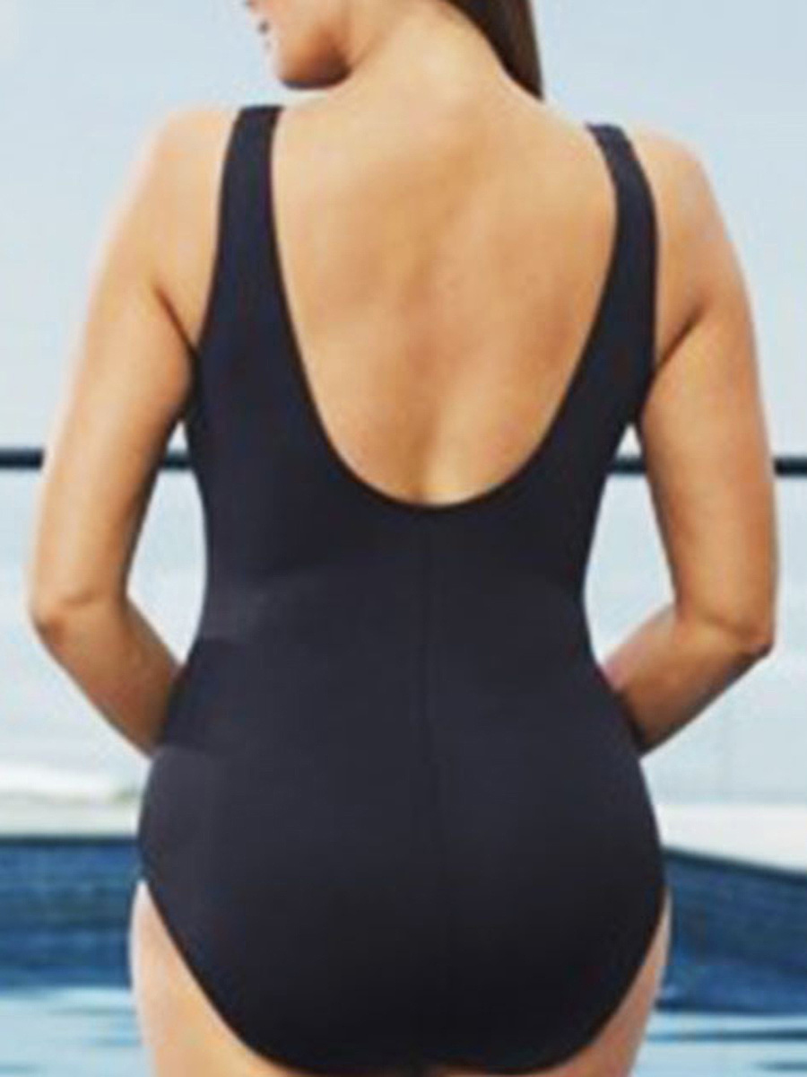 Printed Plus Size One Piece