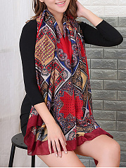 Gauze Abstract Print Scarves