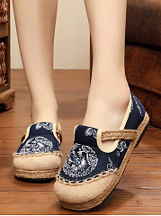 Comfy Round Toe Printed Flats