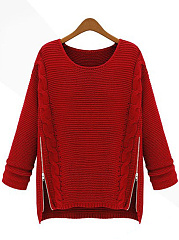 Round-Neck-Zips-Embossed-Plain-Sweater