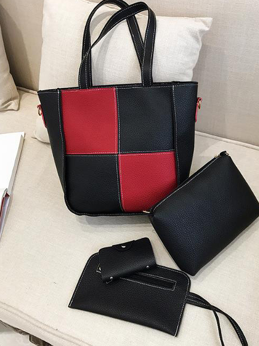 Four Pieces Patchwork All-Match Elegance Hand Bag