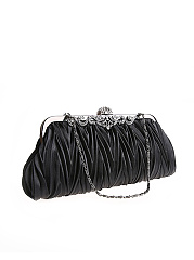 Pleated Diamante Two Way Clutch
