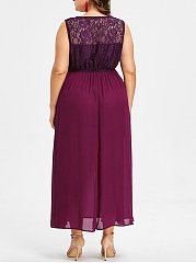 Decorative Lace  Lace Plain Plus Size Midi & Maxi Dress