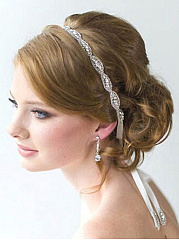 Rhinestone Bead Wedding Hair Band