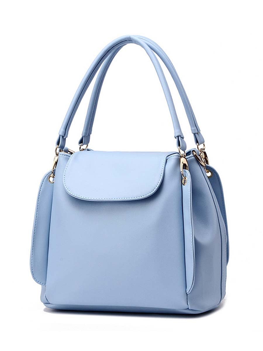 Plain Basic Pu Bucket Bag Shoulder Bag
