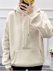 Autumn Spring  Cotton Blend  Plain  Raglan Sleeve  Long Sleeve Hoodies & Sweatshirts Hoodies