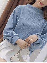 Loose Fashion Blue Sweater