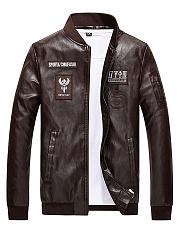 Band-Collar-Decorative-Patch-Men-PU-Leather-Jacket