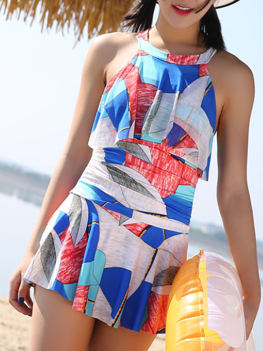 Halter  Printed One Piece