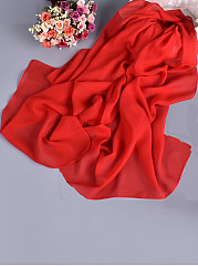 Fashion Single Color Lady Chiffon Long Scarf