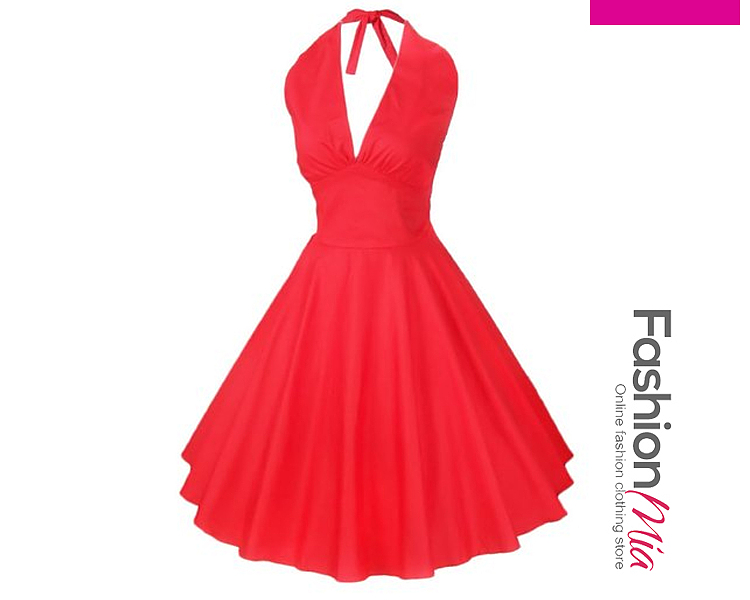 Patchwork  Plain Dresses