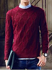 Round-Neck-Embossed-Plain-Mene28099S-Sweater