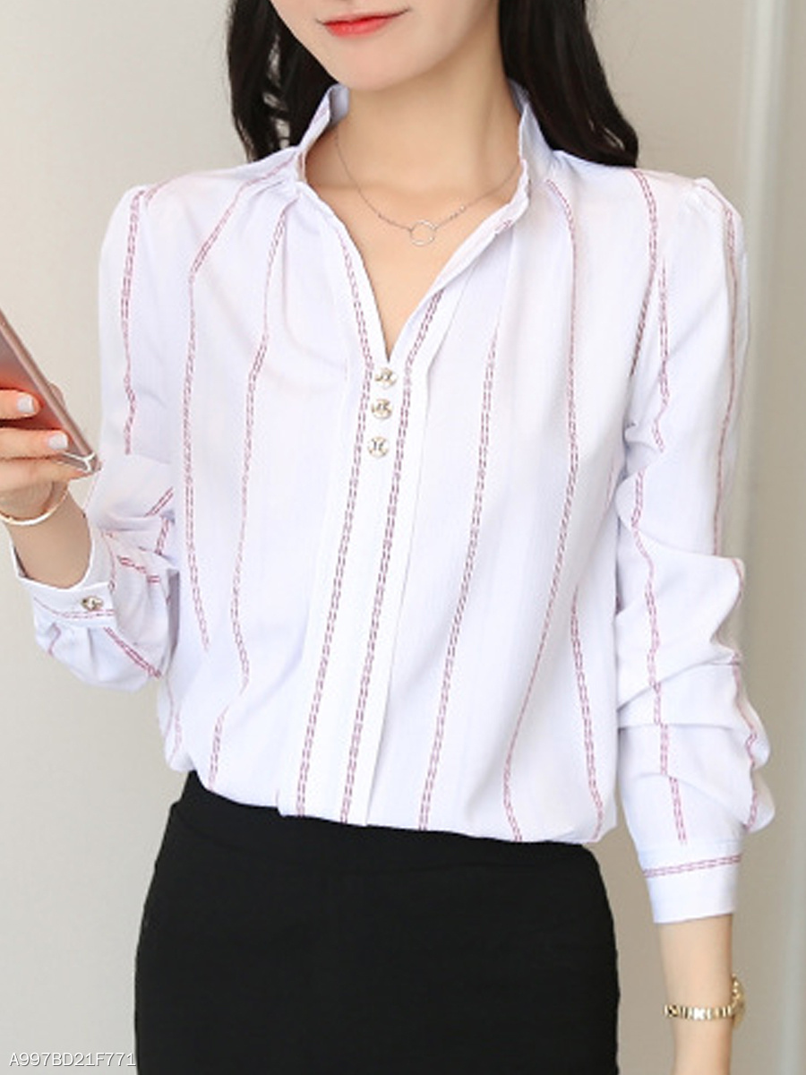 Womens Banded Collar Dress Shirt Bcd Tofu House