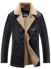 Lapel-Fleece-Lined-PU-Leather-Men-Coat