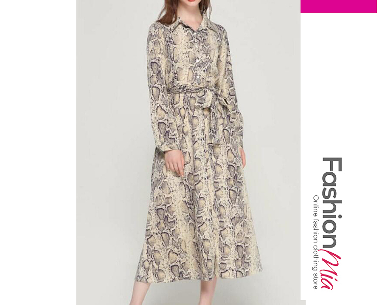 style:fashion, material:polyester, collar&neckline:fold-over collar, sleeve:long sleeve, embellishment:single breasted, pattern_type:animal printed, length:midi, how_to_wash:cold  hand wash, supplementary_matters:all dimensions are measured manually with a deviation of 2 to 4cm., occasion:date, dress_silhouette:flared, package_included:dress*1, lengthsleeve lengthbust