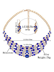 Luxury High Quality Crystal Necklace And Earring