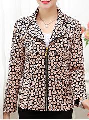 Decorative-Button-Lapel-Zips-Printed-Blazer