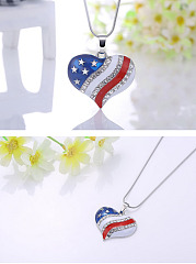 Flag Heart-Shaped Necklace