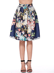 Fabulous-Floral-Printed-Flared-Midi-Skirt