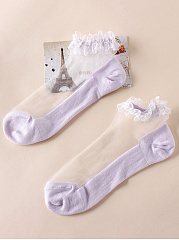 Decorative Lace Short Socks