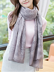 Fashion Retro Cotton Abstract Print  Long  Scarf