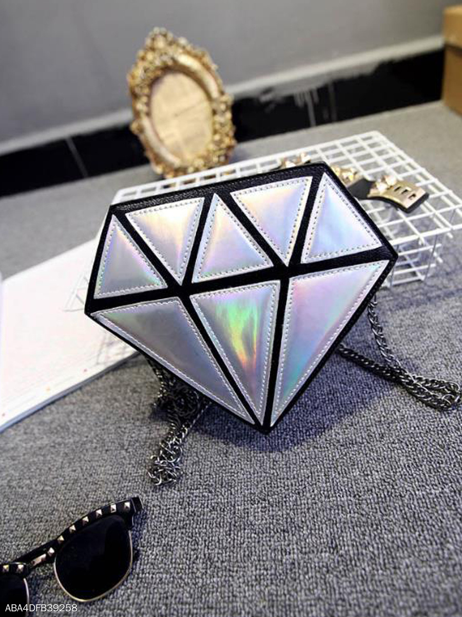 Small Fashion Glaring Colorful  Diamond Crossbody Bag