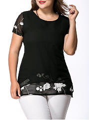 Round-Neck-Printed-Plus-Size-T-Shirt