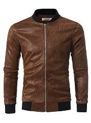 Band-Collar-Printed-Pocket-Men-Jacket
