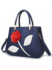 Elegant Solid Flower Decoration Simple Stylish Hang Bag