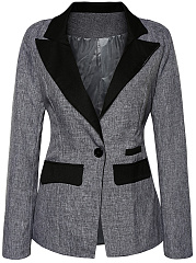 Blazer Polyester Color Block