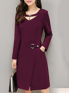 Fashion Slim Ladies Temperament Bag Hip Dress