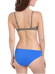 Color Block Underwire Push Up Bikini