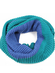 Fashion Warm Soft Color Block Knitted Wrap Scarf