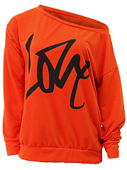 Two Way Sweatshirt With Love Print
