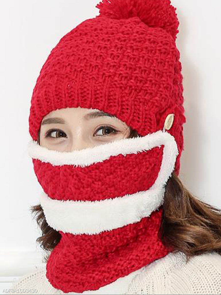 Korea Stylish Fashion Warm Knitted Hats For Winter