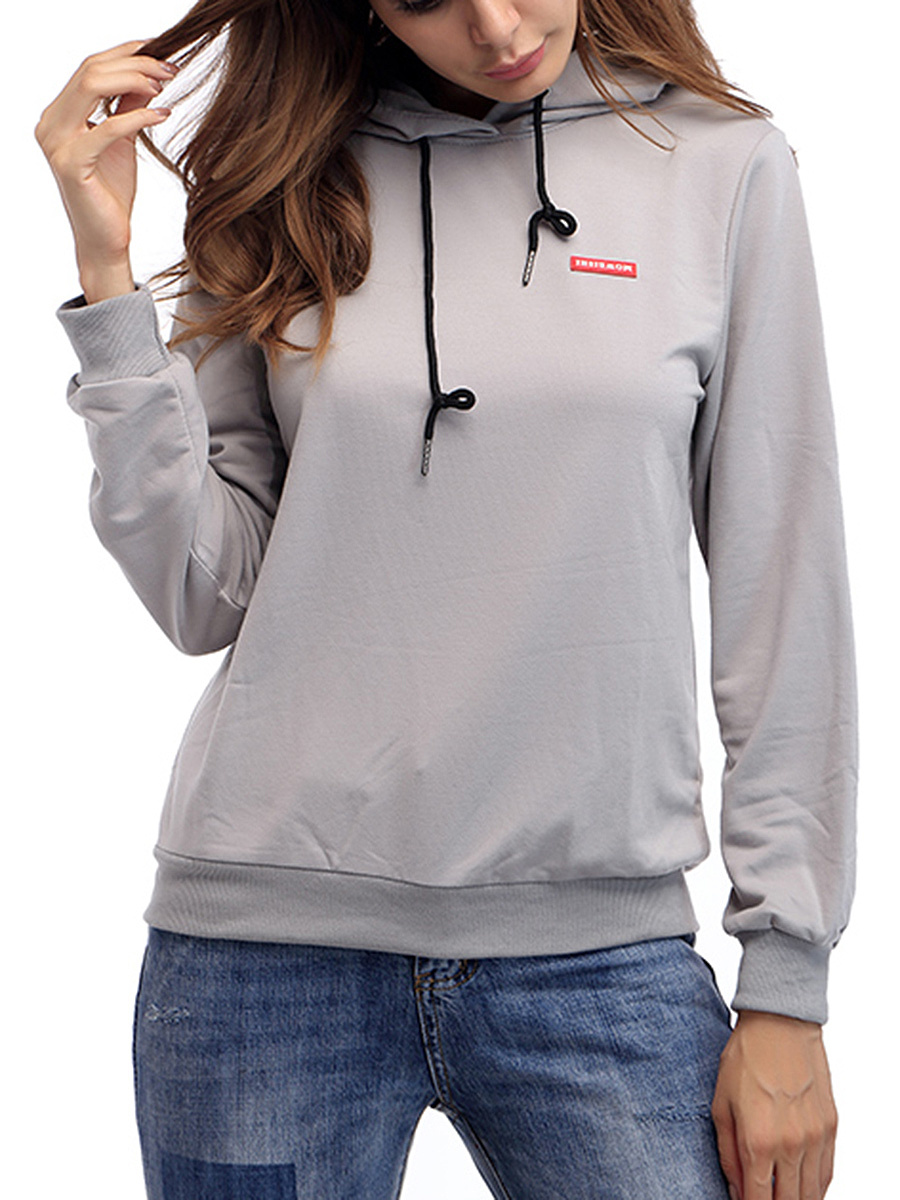 Trendy Decorative Printed Patch Hoodie